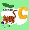 letter c child alphabet graphics vector image