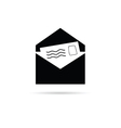 letter icon with paper icon vector image vector image