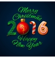 Merry Christmas 2016 greeting card vector image vector image