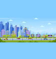 modern city panorama urban town cityscape and vector image