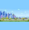 modern city panorama urban town cityscape vector image vector image