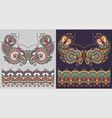neckline embroidery fashion design to print on vector image