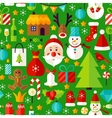 New Year Green Tile Pattern vector image