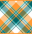 orange diagonal fabric texture seamless pattern vector image vector image