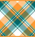 orange diagonal fabric texture seamless pattern vector image