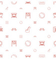 outdoor icons pattern seamless white background vector image vector image