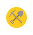 pick axe and shovel icon vector image vector image