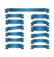 Ribbon banners set blue vector image vector image