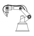 robot arm laser vector image vector image