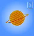 saturn astrology planet vector image vector image