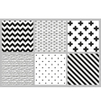 Scandinavian trend seamless patterns vector image