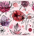 seamless watercolor pattern with tropical flowers vector image vector image