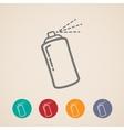 set aerosol spray can icons vector image