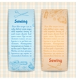 Sewing banners set vector image