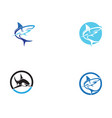 shark fish animals logo and symbols vector image