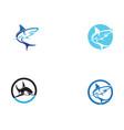 shark fish animals logo and symbols vector image vector image