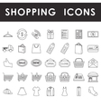 Shopping outline icons set vector image vector image
