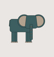 silhouette of an elephant vector image