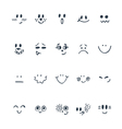 Sketched facial expressions set Set of hand drawn vector image vector image