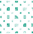 smart icons pattern seamless white background vector image vector image