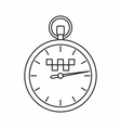 Speedometer in taxi icon outline style vector image vector image