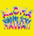 summer hawaii fashion graphic design vector image vector image