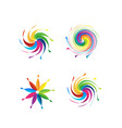 swirly abstract colorful set vector image vector image