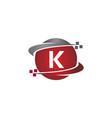technology transfer letter k vector image vector image