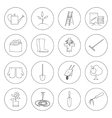 Thin Line Icons Gardening Equipment vector image vector image