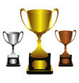 Trophies set vector image vector image