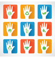 United for ecology concept with hands vector image vector image