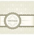 Vintage background ornamental round frame vector image