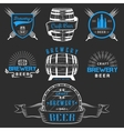 Vintage Craft Beer Brewery Logo and Badge vector image vector image