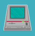 vintage personal computer vector image