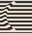 Waved Stripes Vintage Style Background Cover vector image