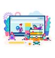 webinar online lesson vector image vector image