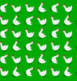 white chicken seamless pattern vector image