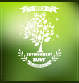 world environment day with shape typography trees vector image vector image