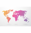 world map made up of colored stripes on a light vector image