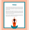 yoga pose banner text sample vector image