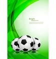 Background with soccer balls vector image