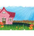 Small rural house vector image