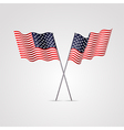 American flag isolated on white background vector image vector image