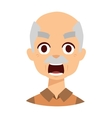 Angry grandpa vector image vector image