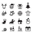 Basic christmas icons set