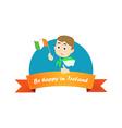 Be Happy in Ireland vector image vector image