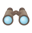 binoculars for observationafrican safari single vector image