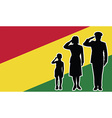 bolivia soldier family salute vector image vector image
