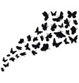 butterfly flow silhouettes flying butterflies vector image vector image