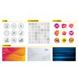 candy face biometrics and sale icons chat clock vector image